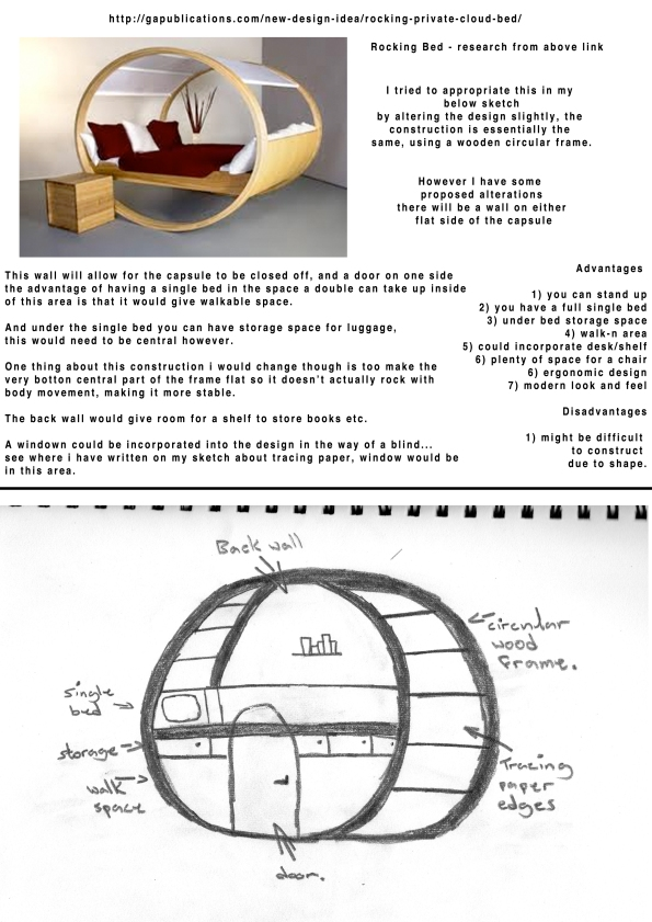 Capsule based on rocking bed idea